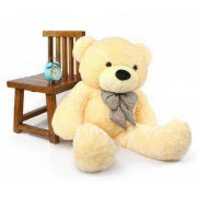 Peach 3.5 Feet Bow Teddy Bear