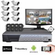 Kit vidéosurveillance Sony 8 caméras HD 700 lignes