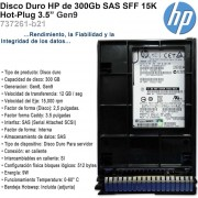Disco Duro Hp 300gb Sas 15k Lff 3.5 Hot-plug 737261-b21 Gen9