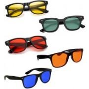 Elligator Wayfarer Sunglasses(Red, Green, Yellow, Blue, Orange)