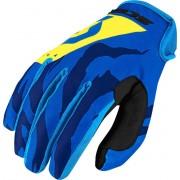 Scott 350 Race Motokrosové rukavice 2017 XL Modrá žlutá
