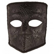 Geen Zwart Bauta masker voor heren