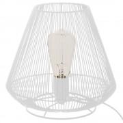 Atmosphera Stolní lampa z kovu, bílá barva