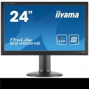 Monitor iiyama B2480HS-B2, 24'', LCD, 2ms, 250cd/m2, 1000:1, FullHD, VGA, DVI, HDMI, repro, pivot, výšk.nastav., čierny