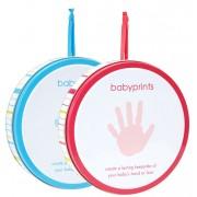 Babyprints hand och fotavtryck i plåtburk (Blå)