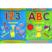 I Can Color Abc And I Can Color 123 Set Of 2 Books A Fun Coloring Book