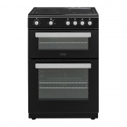 Belling FSE608D Black Ceramic Electric Cooker with Double Oven
