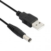 USB Male to DC 5.5 x 2.1mm Power Cable Length: 60cm