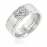 J. Goodin Stainless Steel Pav 15 Stone Ring STR0127VT-C01