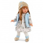Martina 40 cm-es baba kék kabáttal Llorens