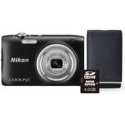 Nikon Aparat Coolpix A100 Czarny + Karta 4GB + Pokrowiec