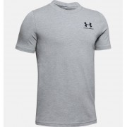 Under Armour Boys' Charged Cotton® Short Sleeve Shirt Gray YXS