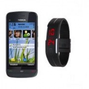 Refurbished Nokia C5-03+LED WATCH (6 Month Warranty bazaar Warranty)