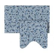 Set covoras baie Softy-Tex® albastru