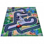 Covor copii carpeta pista masinute curse