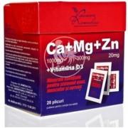 REMEDIA CALCIU MAGNEZIU ZINC D3*20 plicuri