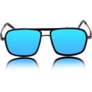 MNGroup Rectangular Sunglasses(Blue)