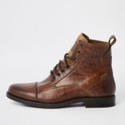 Levi's Mens Levi's Brown leather lace-up boots (Size 11)