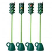Kresz jelzőlámpa oktatáshoz (forgatható jelzőfejjel, 121 cm magasságig) stabil (5 kg) nem borulékony