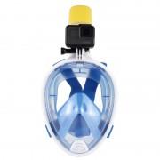 PULUZ 220mm Tube Water Sports Diving Equipment Masque de plongée à sec complet pour GoPro HERO5 / 4/3 + / 3/2/1, taille L / XL (bleu)