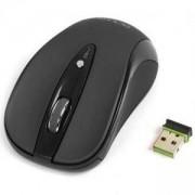 Лазерна мишка DELUX DLM-483GL+GM01UF безжична, Черна, DLM483GL_VZ