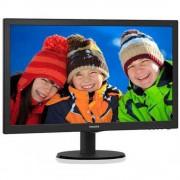 "Monitor 23.6"" PHILIPS 243V5LSB5, FHD 1920* 1080, TN, 16:9, WLED, 5 ms, 250 cd/m2, 1000:1/ 10M:1, 170/160, VGA, DVI, VESA, Kensington lock, Black"