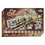 Shell Art Game for kids, Craft kits, Do it yourself, Stick different shells with fevicol to produce fine art works, DIY Activity game