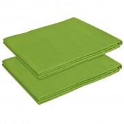 vidaXL Plahta za Posteljinu 2 kom. Pamuk 240x260 cm Zelena boja