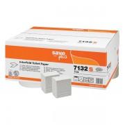 Rezerva hartie igienica intercalata, Celtex 7132S, 2 straturi, alba, 250 portii/pachet, 36 pachete/cutie