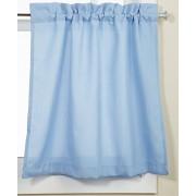 """Lorraine Home Fashions 00200-24-00003 Par de Cortinas con Ribetes, Azul, Tier Pair 54"""" x 36"""", 1"""