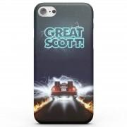 Back to the Future Funda Móvil Regreso al futuro Great Scott para iPhone y Android - Samsung S6 Edge Plus - Carcasa rígida - Brillante