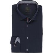 OLYMP No. Six Super Slim Hemd kobalt, Einfarbig