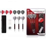 XQmax Darts Dart set rubber afgewerkt 23 g stalen tip 27-dlg QD7000660