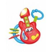 Zornaitoare Muzicala Chitara Rosie. Varsta recomandata 3 luni+