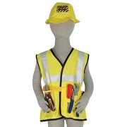 ELECTROPRIME Kids Construction Worker Costume Halloween Party Fancy Dress Role Play Toys