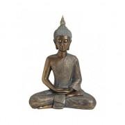 Merkloos Boeddha beeld goud zittend 43 cm