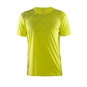 Craft Mind SS funkcionális férfi póló sárga