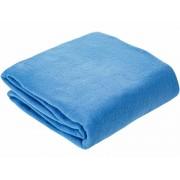 Vízkék selyem - szatén jellegű textil 140 cm széles
