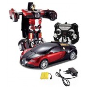 Fantasy India 1:14 Scale Remote Controlled One Button Car to Transformer to Car Converting Ferrari Style Transformer and It is Rechargeable - Multicolor