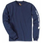 Carhartt Logo Camisa de manga larga Azul Oscuro L