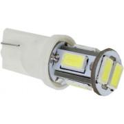 Autós led T10 helyzetjelző,index világítás, 6 led, 50 Lumen, 1W, sárga Life Light Led