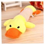EH Perrito Mascota Mastica Squeaky Juguete Peluche Sonido Los Juguetes Del Perro-Pato Amarillo
