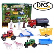 Fun Little Toys My First Farm Diecast Metal Play Set with Horses Animals