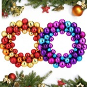 Christmas Balls Wreath Garland Hanging Pendant Window Door Ornament Home Decorations