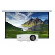 Videoproiector Resigilat BENQ MH750, Full HD + Ecran proiectie electric perete/tavan Blackmount, vizibil 300x169cm