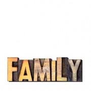 Palavras Letras em Alto Relevo Family Familia