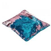 geschenkidee.ch Magische Kissenhülle Wendepailletten Blau Rosa