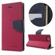 Mercury Etui portefeuille en cuir Mercury Goospery iPhone 7 8 Original rose