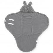 Jollein Baby Wrap Blanket Bunny Storm Grey
