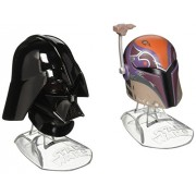 Star Wars Titanium Series Sabine Wren and Darth Vader Helmets